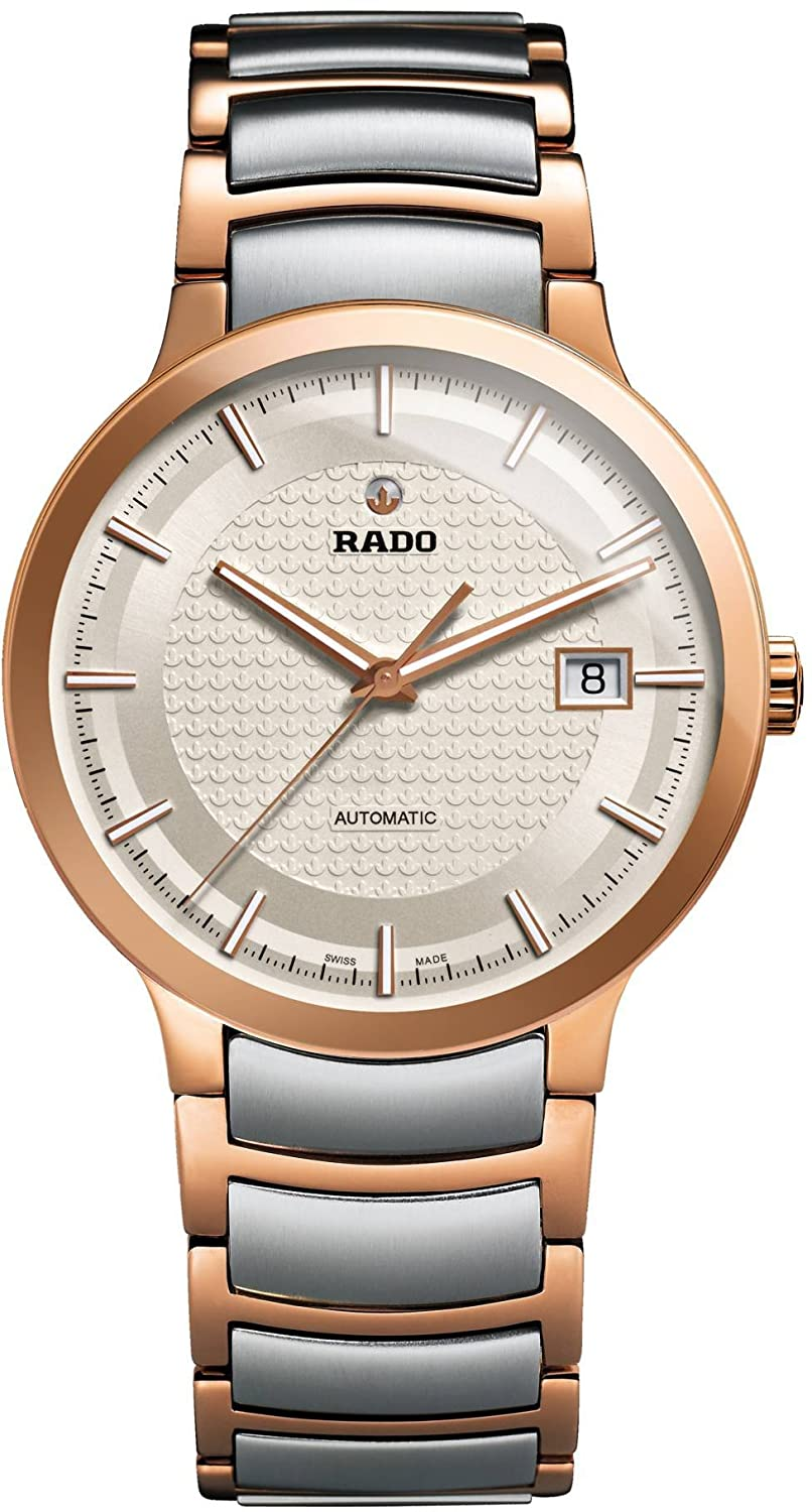 Rado Men s Centrix Swiss-Automatic Watch with Stainless-Steel Strap, Two Tone, 20 Model R30953123