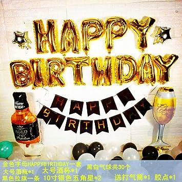 Decoración de cumpleaños Adulto Feliz cumpleaños Arreglo de ...