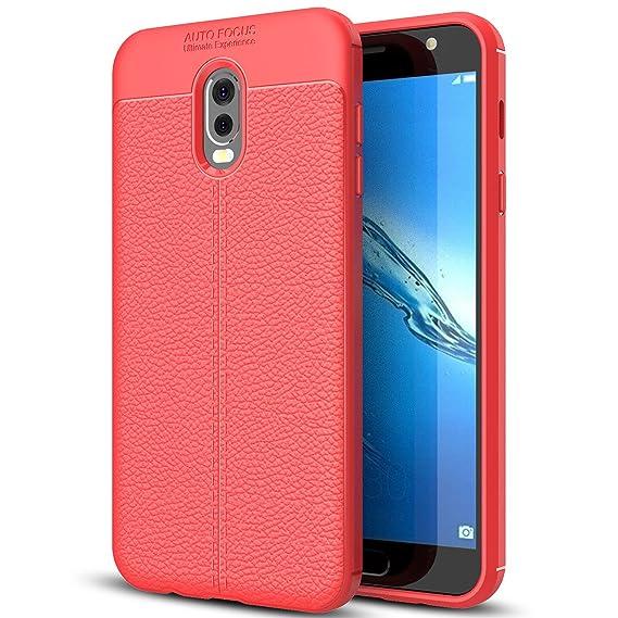 brand new f87f6 55680 Amazon.com: Samsung Galaxy J7+ Case, Galaxy J7 Plus Faux Leather ...