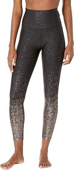 25d463e1ef5a47 Amazon.com: Beyond Yoga Alloy Ombre Sport Flex High Waist Midi Legging,  Black: Clothing