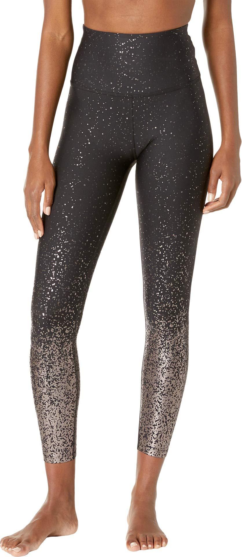 Beyond Yoga Alloy Ombre Sport Flex High Waist Midi Legging, Black Gunmetal Speckle, Small