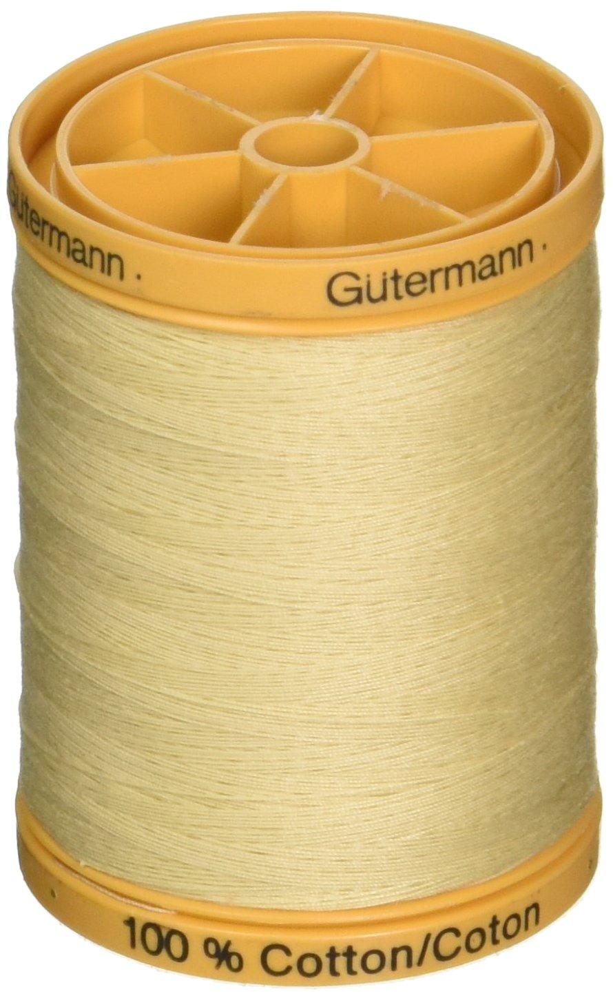 Gutermann 876 yd Natural Cotton Thread Solids, Vanilla Cream 026956