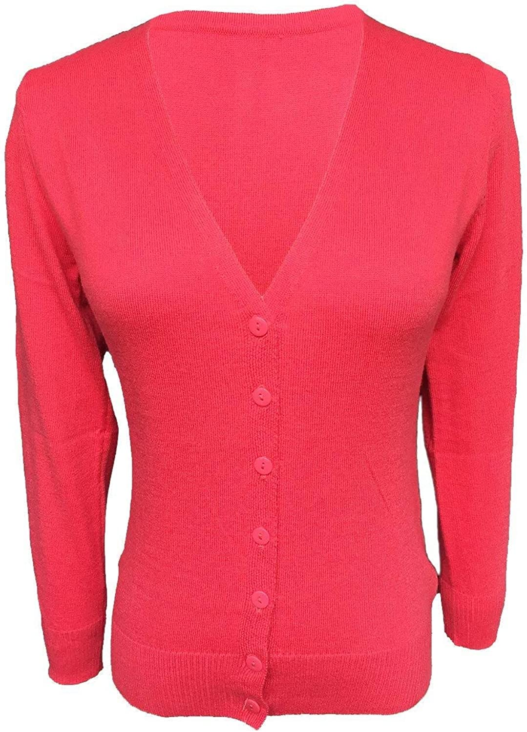 Ladies Basic Cardigan Wool Blended Fine Buttoned Uni Sizes S Casual Fashionable Completi Festive Retro Tops