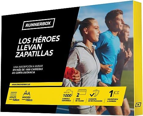 RunnerBox - Caja Regalo para Runners - LOS HÉROES Llevan Zapatillas - regala una Carrera Running - más de 1000 en España: Amazon.es: Deportes y aire libre