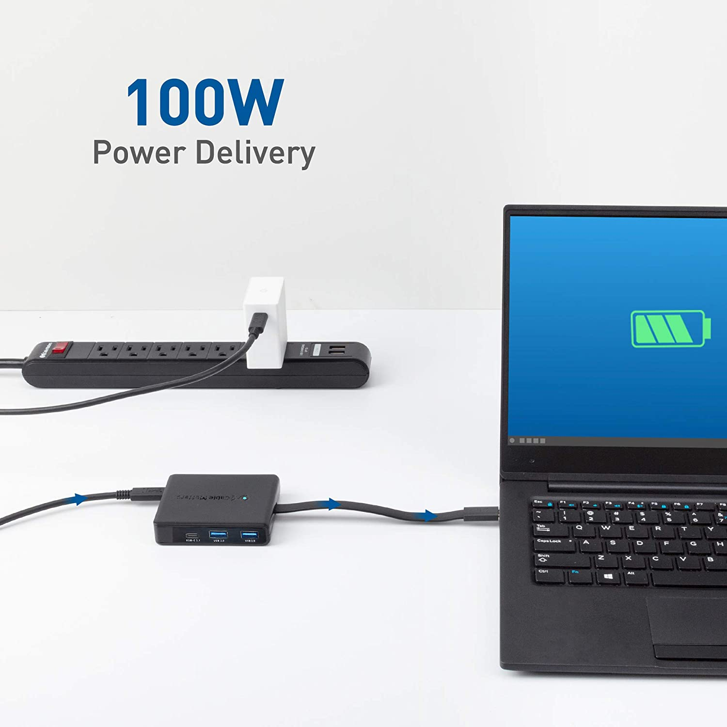and 100W Charging with 3X DisplayPort USB-A and USB-C Thunderbolt 3 and Thunderbolt 4 Port Compatible for Windows Gigabit Ethernet Cable Matters Triple Monitor USB C Hub USB C Dock