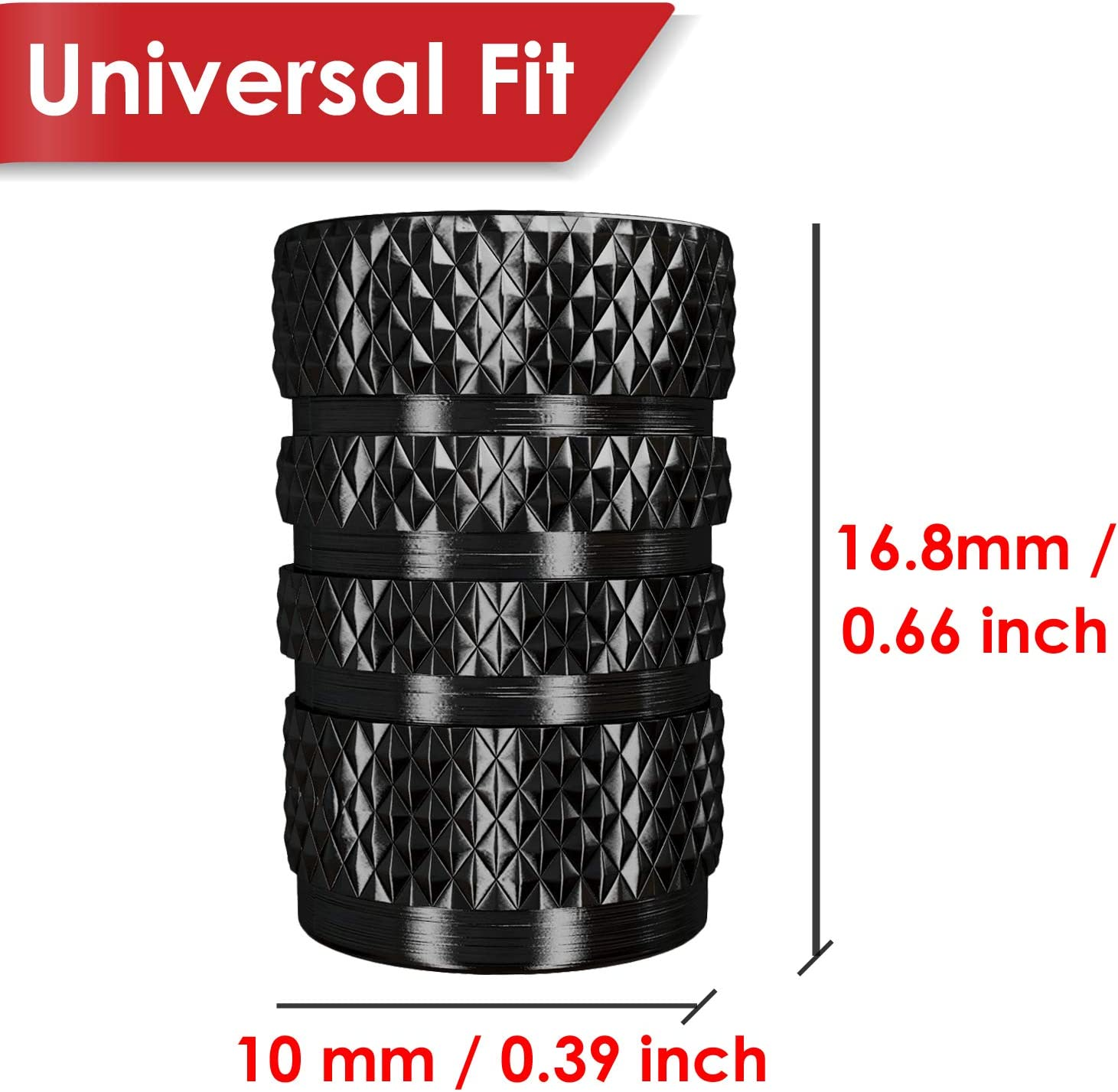 12 Pack SUVs Metal with Rubber Ring Silver Motorcycles Metal Trucks SAMIKIVA Aluminum Tire Valve Stem Caps Dust Proof Cover Universal fit for Cars 12 Pack Bike and Bicycle
