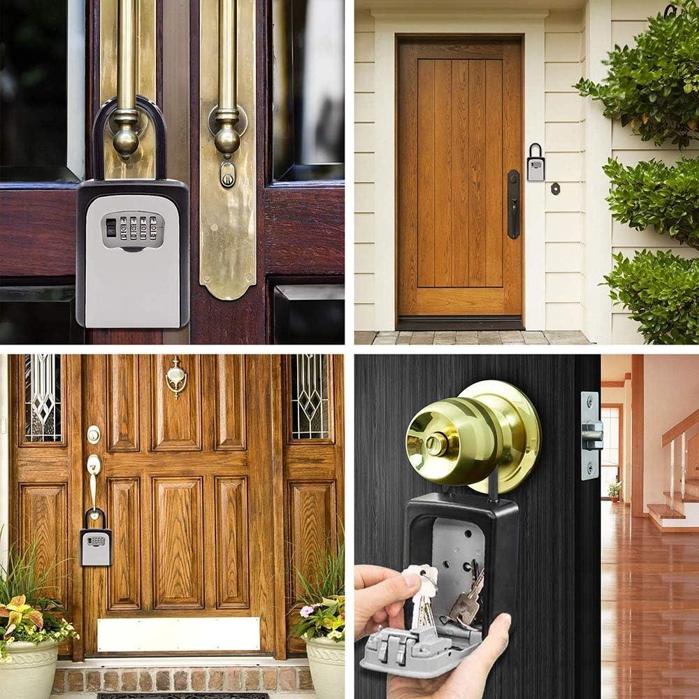 avec Le Code de s/écurit/é combin/é Mot de Passe Lock pour Maison cl/é pour Le Domicile Garage /école Epargnez cl/és de la Maison KIYOUMI Key Lock Box avec Manille