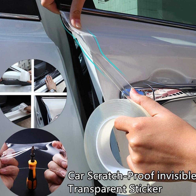 Protezione per Paraurti per Auto Antigraffio in Gomma Auto Porta Davanzale Trasparente 10CM x 5M