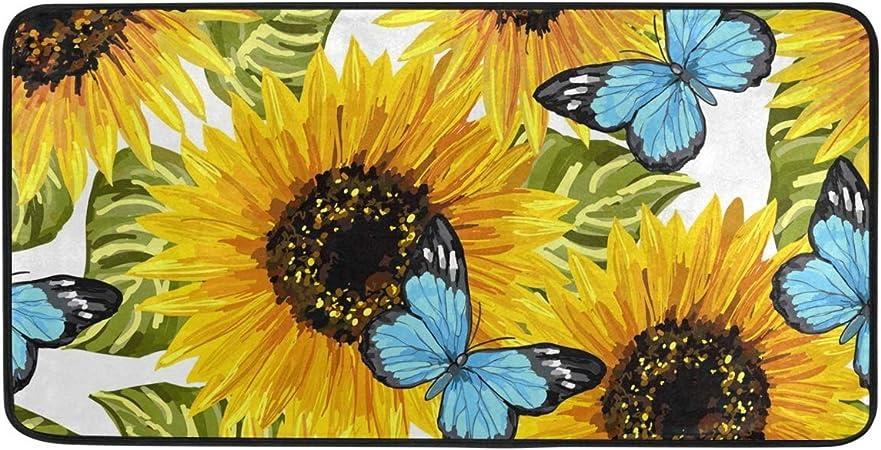 Chiak New Home Bedroom Doormat Floor Soft Non-slip Sunflower Mat Rug Carpets Shoulder Bags