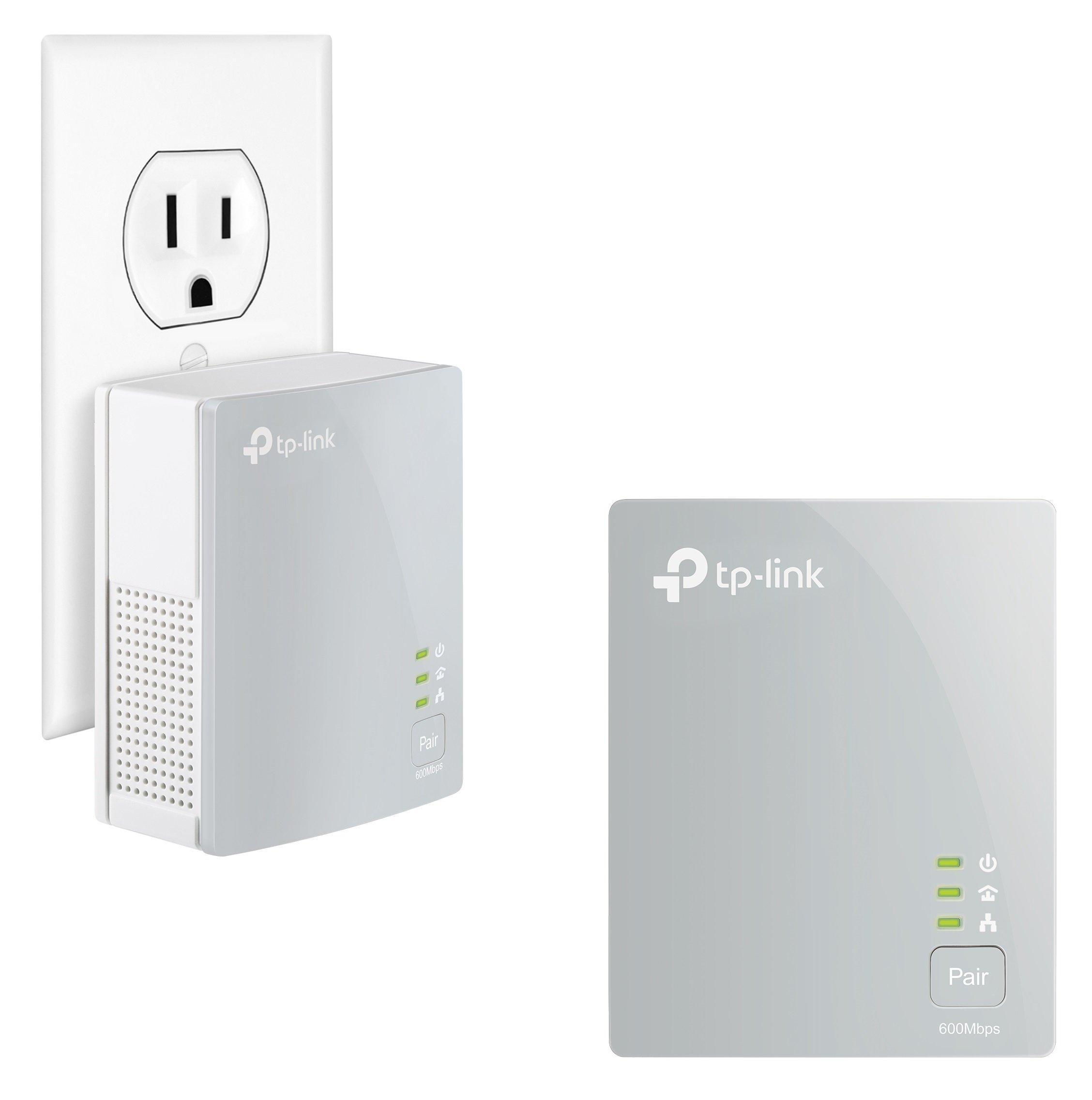 TP-Link AV600 Nano Powerline ethernet Adapter Starter Kit, Powerline speeds up to 600Mbps (TL-PA4010KIT) by TP-Link