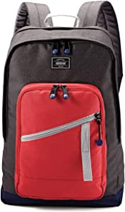 """American Tourister Backpack Laptop Computer 18"""" KeyStone - Red/Grey"""
