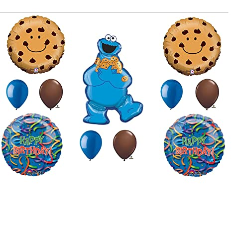 Amazoncom Cookie Monster Sesame Street Birthday Party Balloons