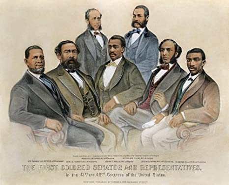 18 x 24 Black Senators 1872 NThe First Colored Senators And Representatives In The 41St And 42Nd Congress Of The United States Lithograph 1872 By Currier /& Ives Poster Print by
