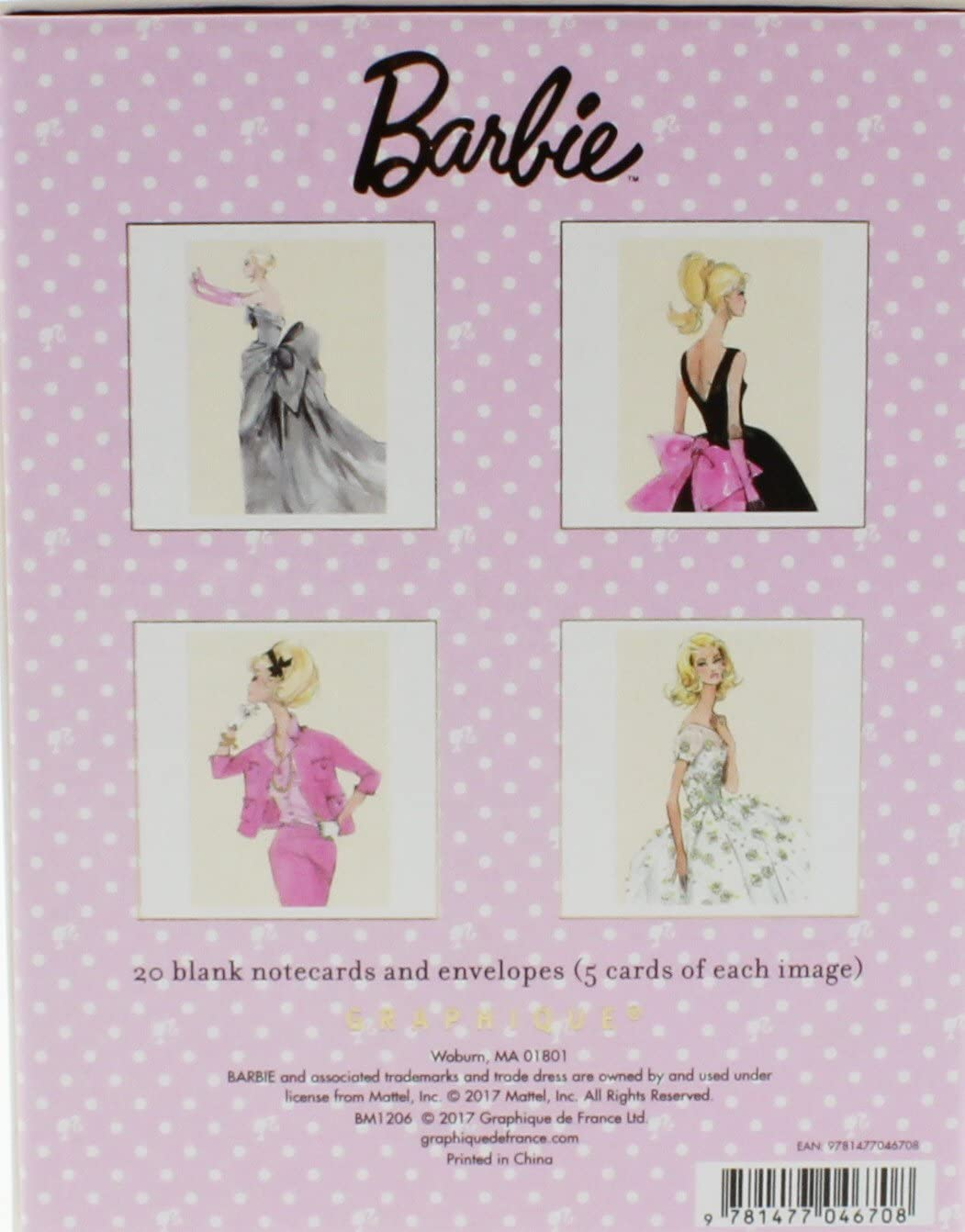 Embellished For Her Barbie In Off White Gown Blank Note Greeting Card