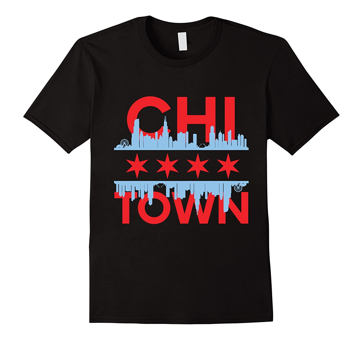 Chi town chicago flag t shirt goatstee Chi town t shirts
