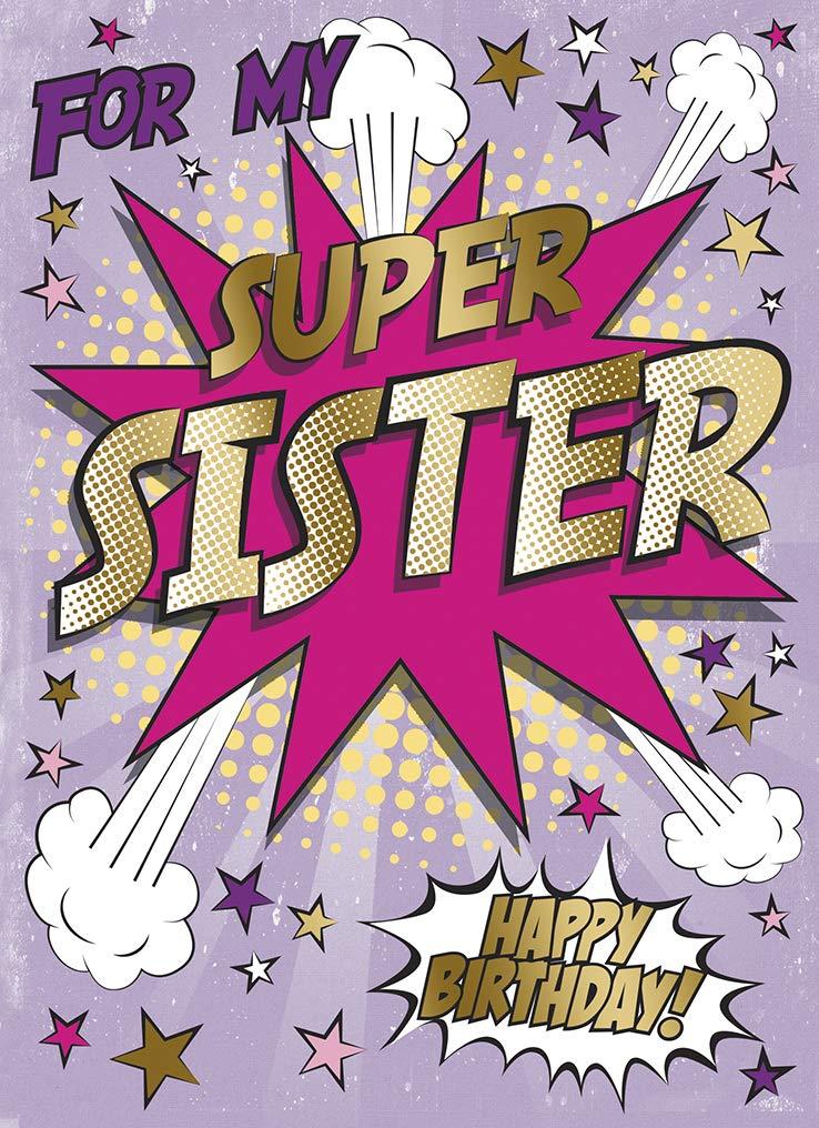 Pow - Tarjeta de felicitación de cumpleaños para mi hermana ...