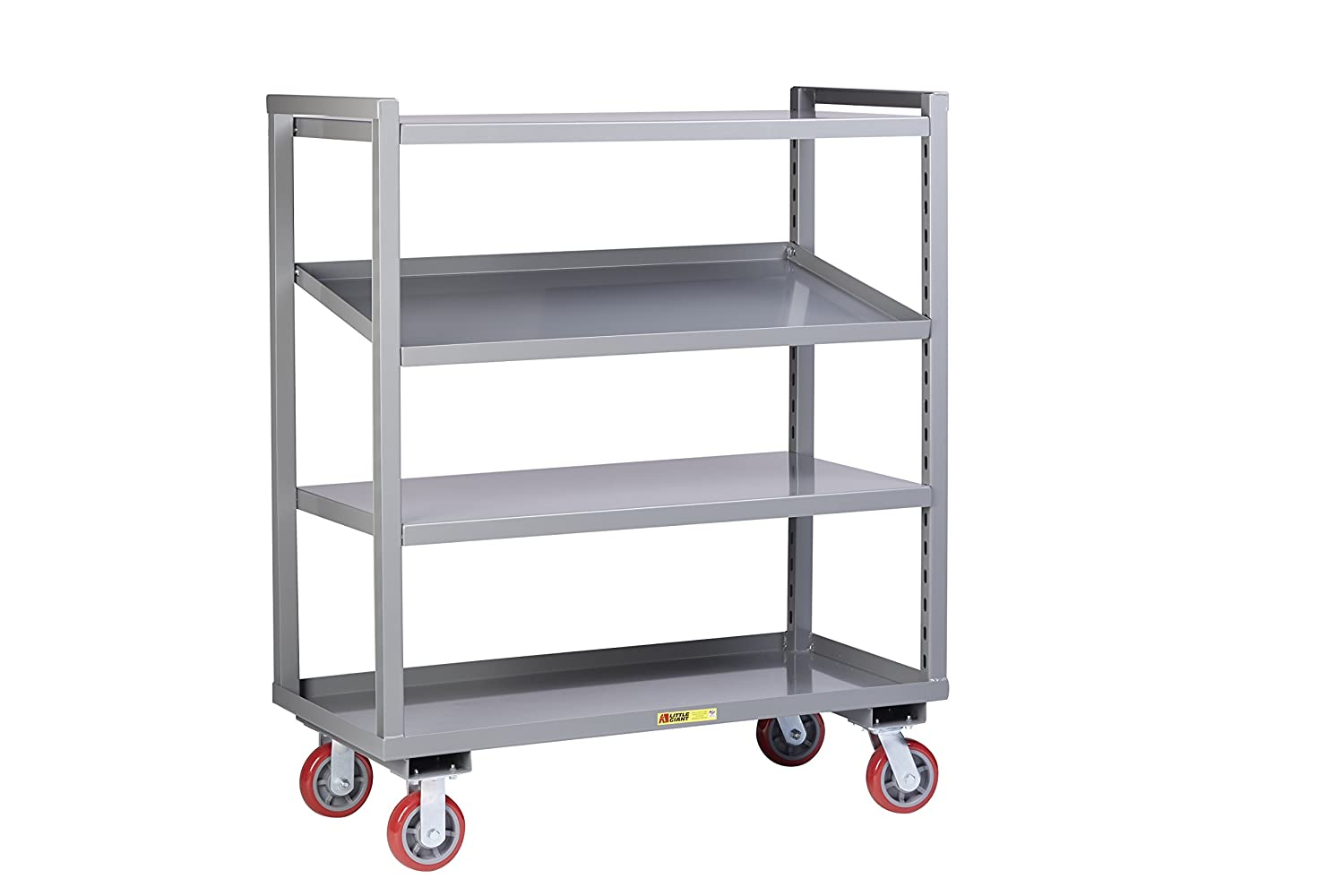 Adjustable Width Shelving Little Giant Am 3a 2448 6py Adjustable Height Multi Shelf Truck 3