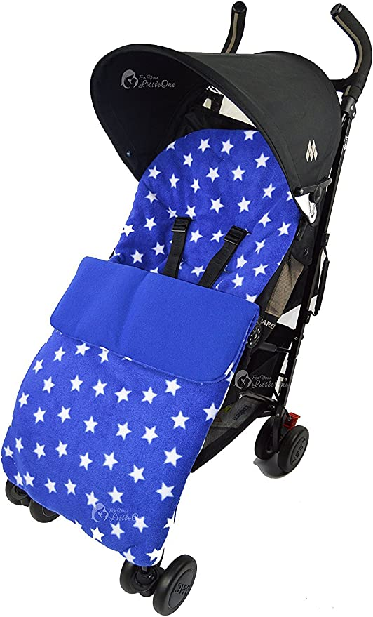 Fleece Footmuff Cosy Toes Compatible with Buggy Pushchair Blue Star