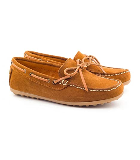 Boni Classic Shoes - Zapatos de Cordones Niñas , Marrón (marrón), 24