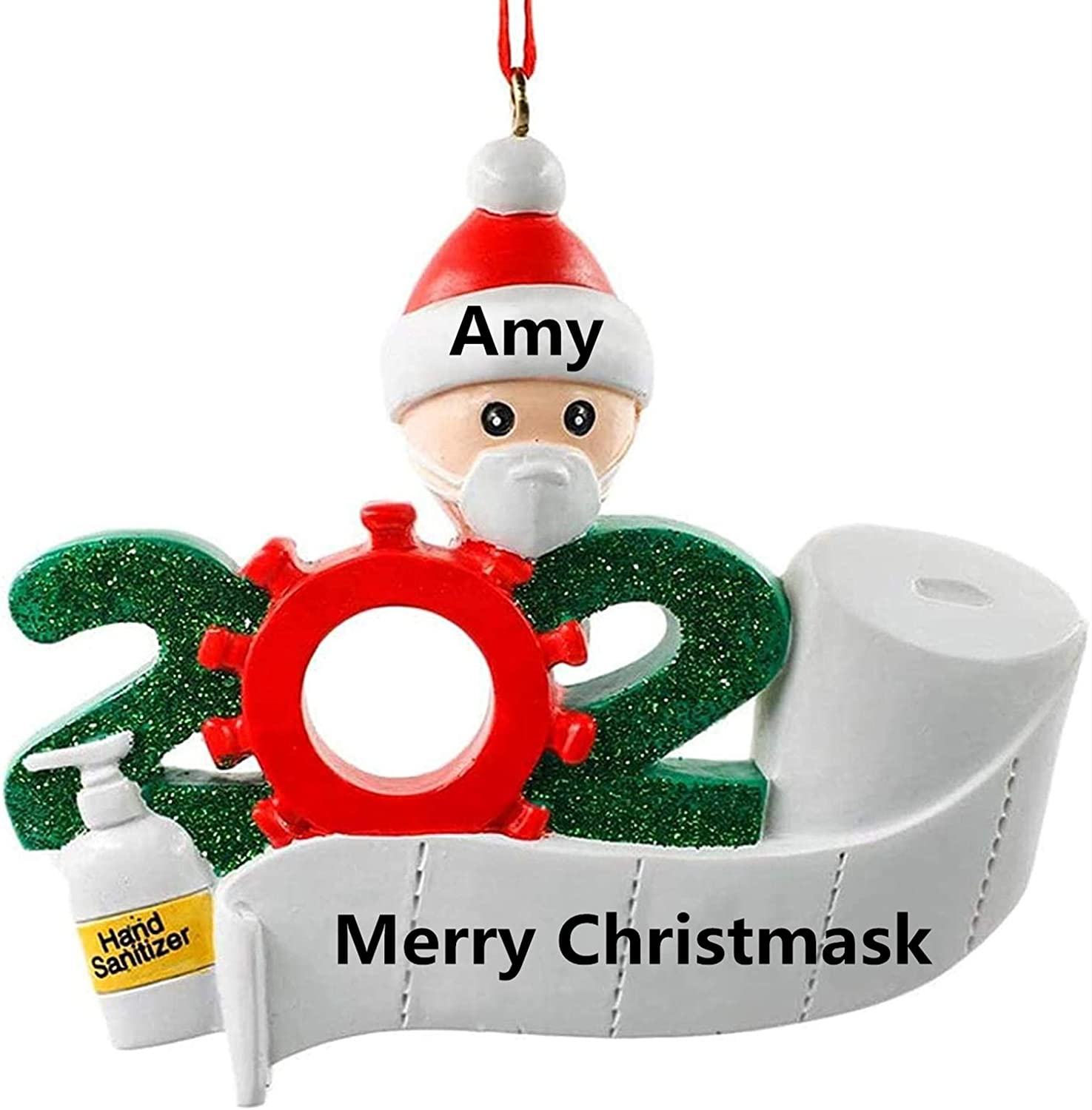 2020 Quarantine Survivor Family Customized Christmas Decorating Kit DIY Creative Gift for Family N A 2020 Personalized Name Christmas Ornament kit Family of 1