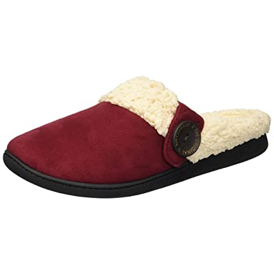 Amazon.com | Dearfoams Women's Microsuede Clog with Button Tab Slipper | Mules & Clogs