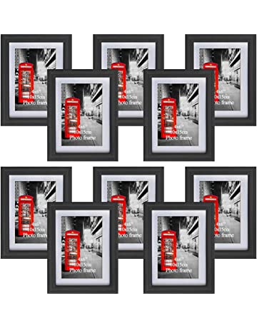 9f4f256a98d4 Amazing Roo Black Picture Frames with Mat for Wall or Table Top Decoration ( 4x6