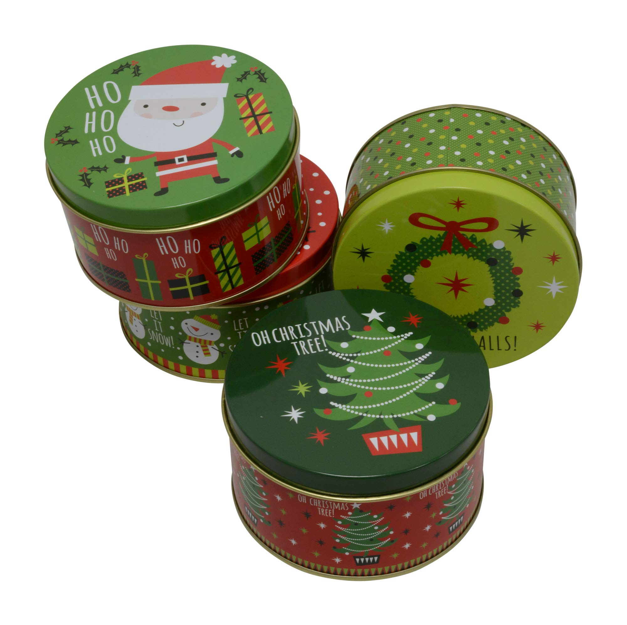 Christmas Mailbox Shaped Tins with Lids Variety To Choose