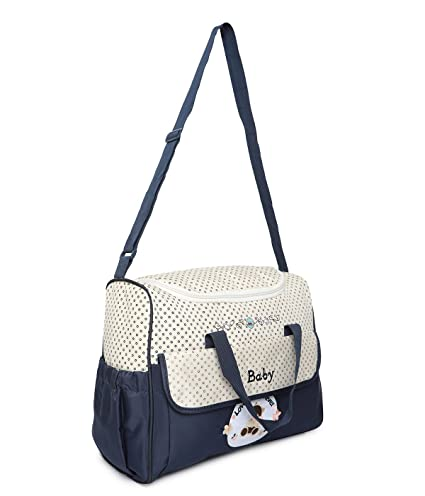 07cac6b62dbea Buy Offspring Multifunction Shoulder Diaper Bag (Navy Beige) Online at Low  Prices in India - Amazon.in