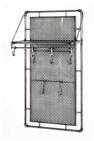 Haku Mobel Wandgarderobe Metall Anthrazit 60 X 35 X 120 Amazon De
