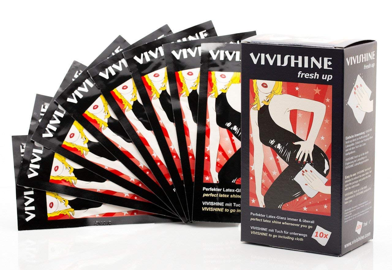 Vivishine Fresh Up 7ml 10 Pack - Latex Shiner - For Latex Clothing