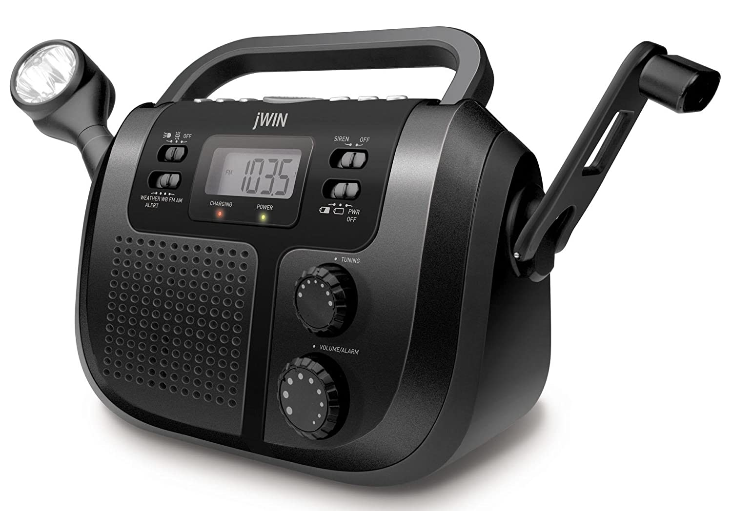 Amazon.com: jWIN JXM125 AM/FM Weather Band Radio (Discontinued by  Manufacturer): Home Audio & Theater