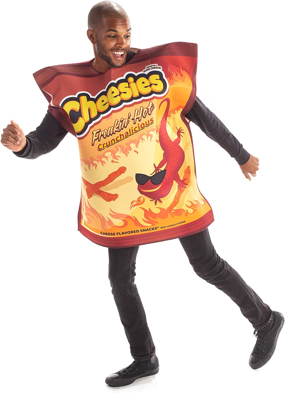 Freakin' Hot Cheesies Halloween Costume - Funny Snack Food Unisex Adult Outfit