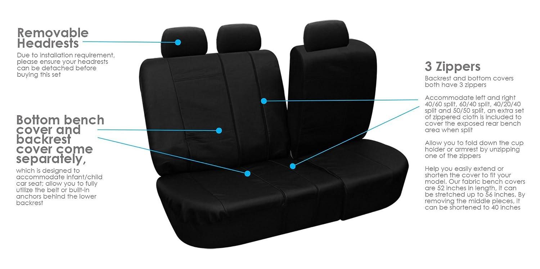 60 40 Split Bench Car Seat Covers Velcromag