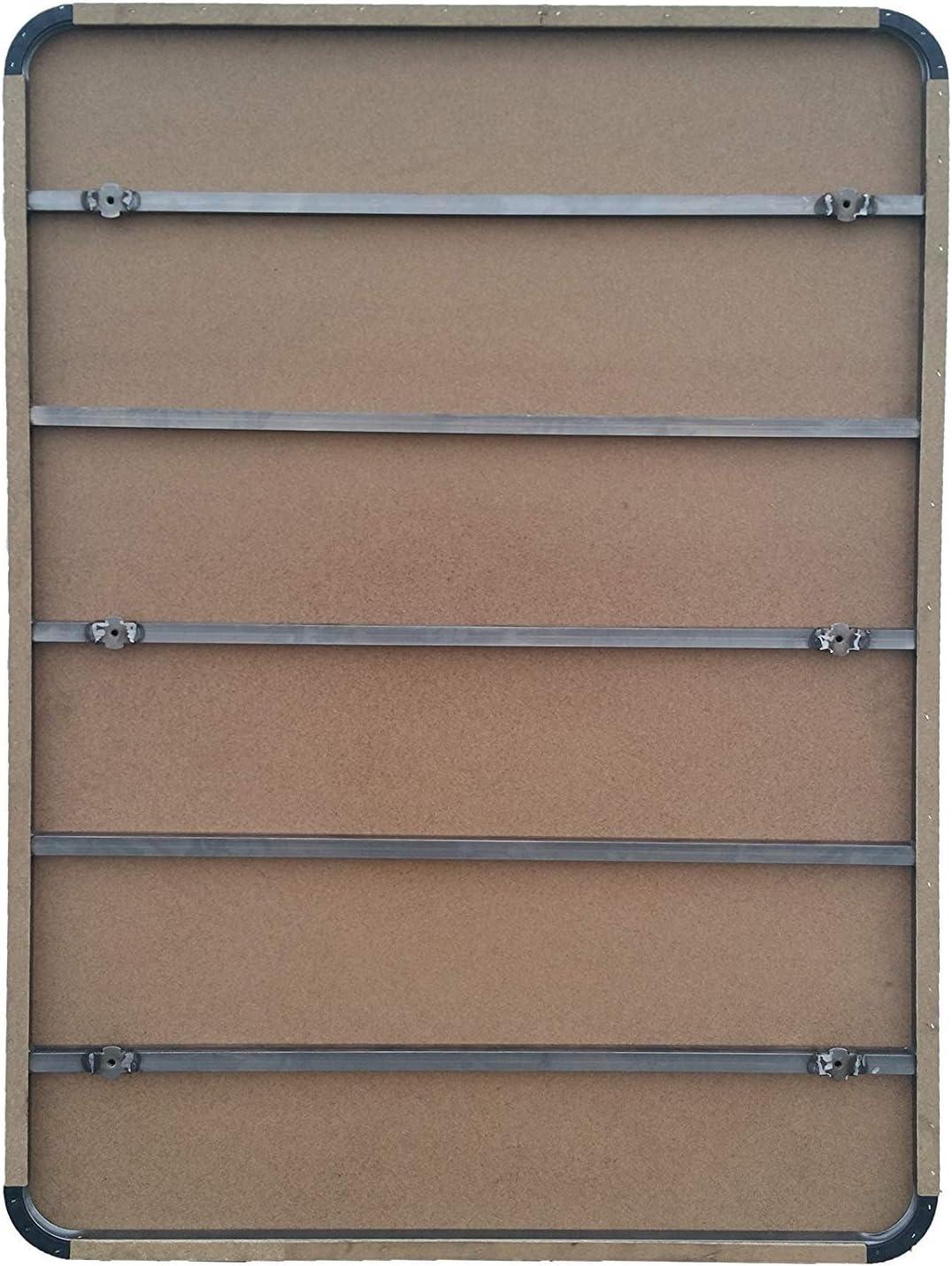 HOGAR24 Base Tapizada con 5 Barras Transversales y Tejido 3D Color Gris + 7 Patas de Metal 32cm, 150x190cm