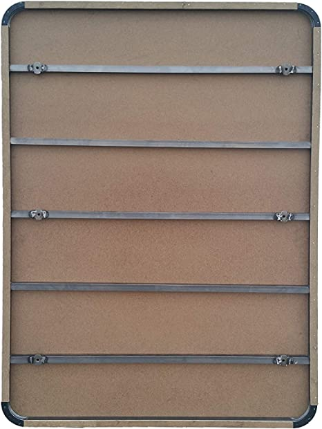 HOGAR24 Base Tapizada con 5 Barras Transversales y Tejido 3D Color Gris + 7 Patas de Metal 32cm, 150x200cm