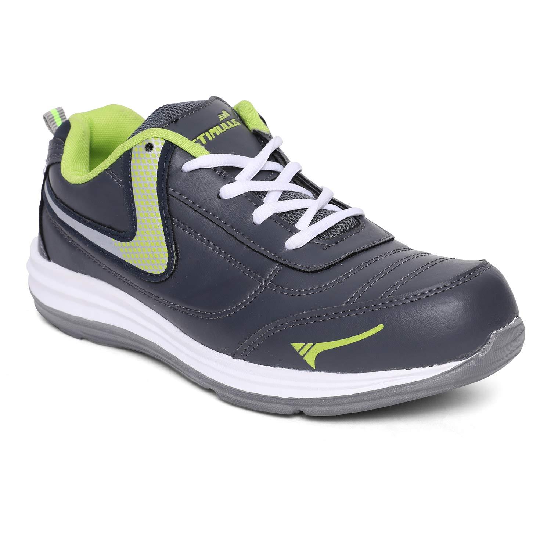filosofo Pedagogia disonesto  Buy PARAGON_SHOES Men's Grey-Neon Green Sneakers-7 UK (40.5 EU) (FB9774GP)  at Amazon.in