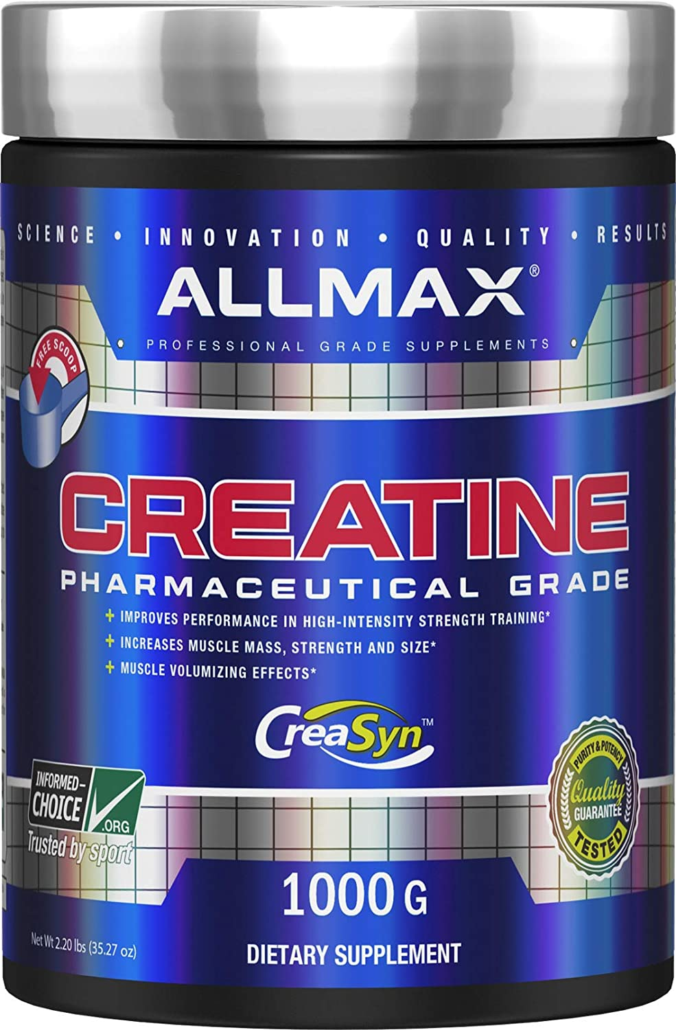 ALLMAX Nutrition Creatine Monohydrate Powder, 1000g