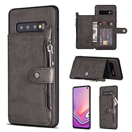 Amazon.com: Funda tipo cartera para Samsung Galaxy S10/S10+/ ...