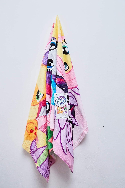 Rarity pour enfants Twilight Sparkle 100/% coton Applejack Rainbow Dash Fluttershy Pinkie Pie Serviette de plage My Little Pony 70 x 140 cm avec motif Spike