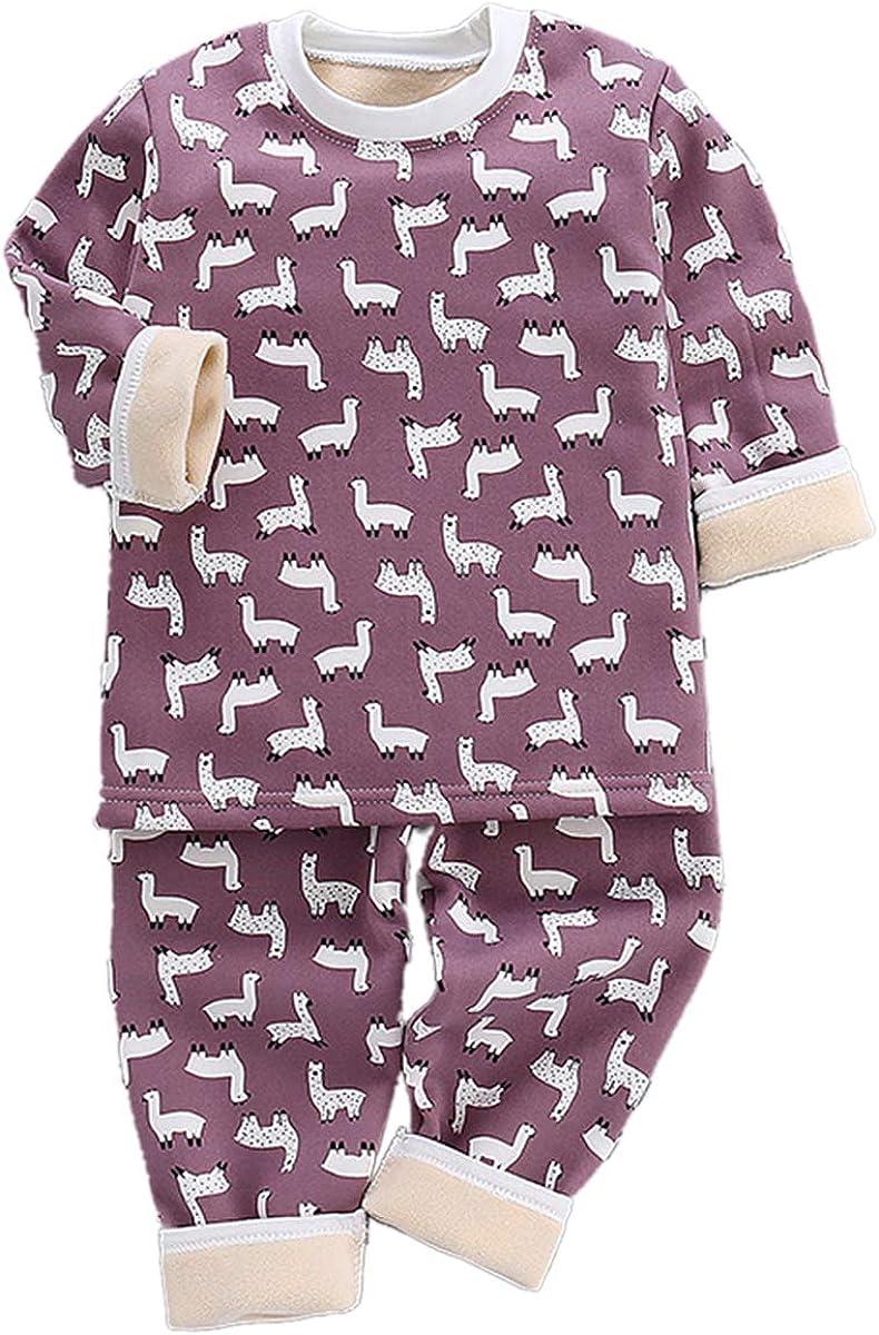 DEBAIJIA Bambino Abbigliamento Casa 0-8T Bambini Biancheria da Notte Infante Pigiama Biancheria Intima Caldo Indumenti Notte