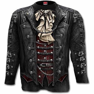 3e1b2c2774f Spiral - Mens - Goth WRAP - Allover Longsleeve T-Shirt Plus Size - 3XL