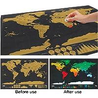 Muitobom Travel Scratch Off the world Map Deluxe Travel Edition Scratch Off dünya haritası poster kişiselleştirilmiş günlük LOG