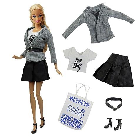 33c7a1a30c9 ZITA ELEMENT Vestido de Barbie 5 Conjuntos Hecha a Mano   (1 Chaqueta+ 1  Vestido