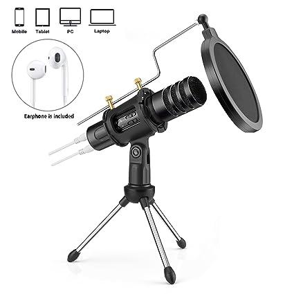 Amazon.com: Portátil Mini micrófono de condensador para ...