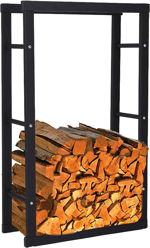 noir Zelsius /Étag/ère pour bois de chemin/ée Plusieurs tailles