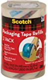 Scotch Packaging Tape Refill, 1.88 x 900 Inches, Clear, 2 Pack (DP-1000-RR-2)