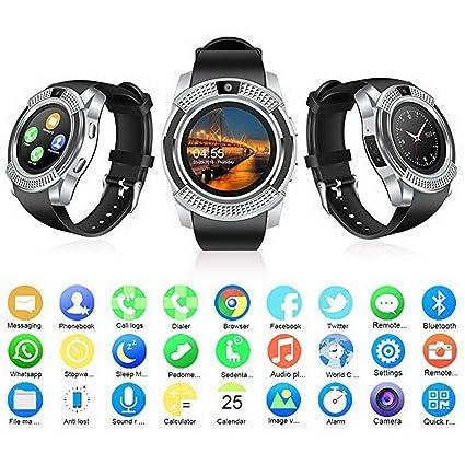 Pudrew Bluetooth Smart Watch Fitness Podómetro Sleep Monitor Rastreador Tarjeta SD Tarjeta SIM Smartwatches