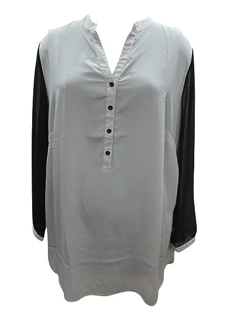 Camisa De Interior Mujeres Túnicas Mogul Frontal Botones Crepé qA1xxBn
