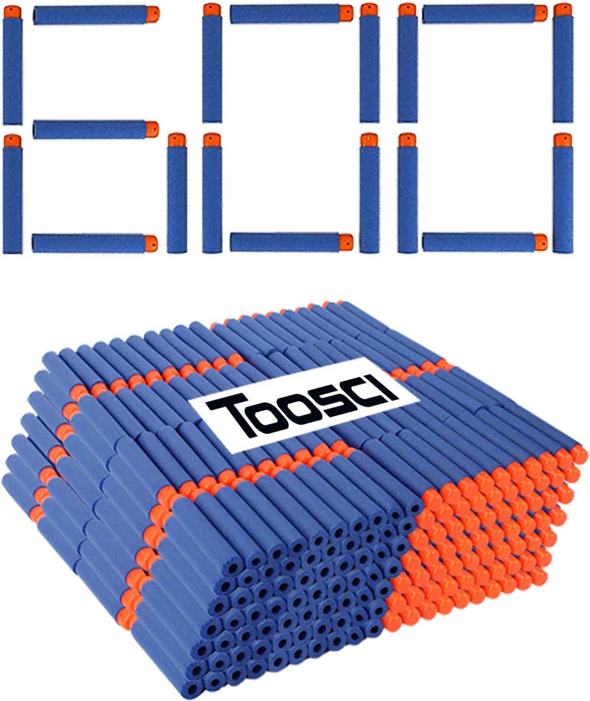 Toosci Nerf Refill Bullets Foam Darts 7.2cm Refill Pack Compatible for Nerf N-Strike Elite Series Blasters Kids Toy Gun Darts 600 Pack Blue