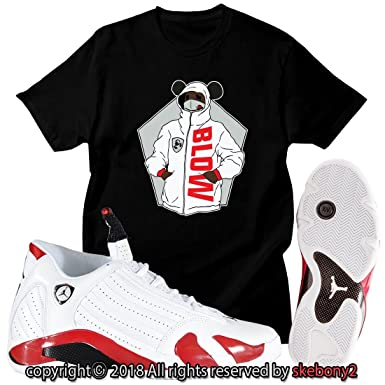 9adb9603ceaa New Custom T Shirt AIR Jordan 14 Last Shot Matching TEE JD-14-2-7 at Amazon  Men s Clothing store